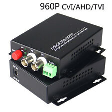 960P AHD CVI TVI 2 Channel Video Fiber Optical Converters With RS485 For CCTV