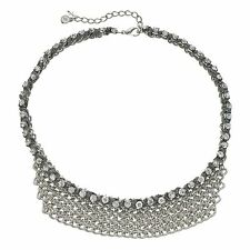 NEW! Simply VERA WANG Crystal & Chain Link Bib Necklace FREE SHIPPING!