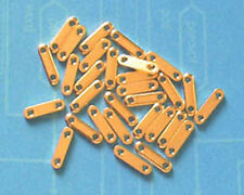 50 gold plated 2-hole spacer bars, jewellery findings