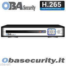 NVR 8 CH CANALI CLOUD FULL HD 4K H265 ONVIF VIDEOSORVEGLIANZA Oba security