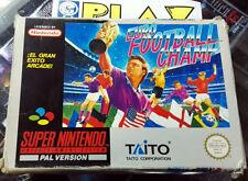 EURO FOOTBALL CHAMP PAL ESPAÑA Super Nes Nintendo SNES TAITO Gran Exito Arcade