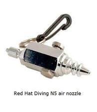 RED Hat Immersione N5 Aria Pistola Ugello. ascensore BAG SMB, BCD Dry Suit RACCORDO. NUOVO