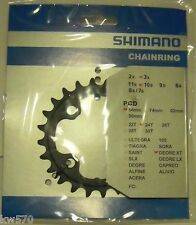 XT 10v - Corona/Chain ring originale Shimano 24T 4 fori x 64mm FC-M770/M771 -NEW