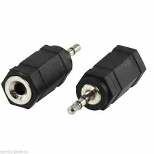 STEREO 2.5MM MALE JACK PLUG TO 3.5MM FEMALE JACK SOCKET ADAPTER X 1