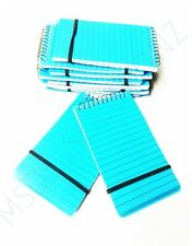 10 MINI SPIRAL BOUND BLUE WRITING NOTEPAD SMALL PAD LINED PAGES POCKET NOTE BOOK