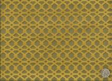 Brentano Quadro Campo Modern Contemporary Cut Velvet Gold Upholstery Fabric