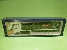 LION CAR MAN TRUCK + TRAILER - KLENE ORIGINAL SINCE 1876 - 1:50 - NMIB