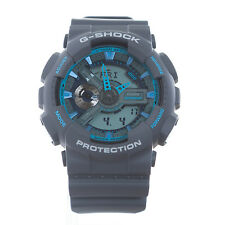CASIO G-Shock Men's Watch GA110TS-8A2 Grey with Blue Accents Fast Shipping
