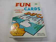 Vintage Fun Cards Stand Up Animals Learn to Spell New in Box 1960s by Warren
