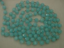 TURQUOISE COLOR GLASS CHANDELIER LAMP PRISM BEAD CHAIN X'MAS WEDDING GARLAND GD
