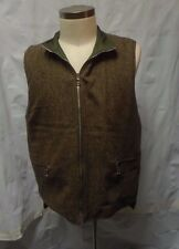 Mother Freedom Brown Tweed Reverible Nylon Quilted Zip Front Vest Men's M/Medium