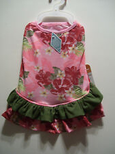 TOMMY BAHAMA PETS DOG CLOTHS. SUMMER PINK DRESS. SIZE IS EXTRA SMALL