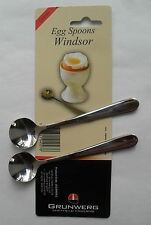 Soft Boiled Egg Stainless Steel Spoon, Pack of 2 Spoons, Windsor by Grunwerg