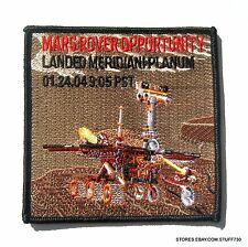 "MARS ROVER OPPORTUNITY LANDED EMBROIDERED SEW ON PATCH NASA 4"" x 4"""