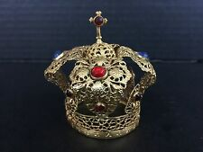 Antique gold Jeweled Crown For Infant Jesus of Prague Statue
