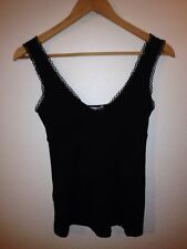 MNG Stretch Sateen Vest Top Size S Nightwear Black  R10279