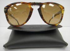 PERSOL 714 SUNGLASSES GREEN STRIPED Photo-Polarized Steve McQueen 93881 Size 52