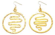 Cleopatra-gorgeous Rose Gold Maze Swirl Centre Hook on Hoop Earrings(Zx146)
