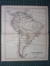 1887 Antiguo Mapa ~ América del Sur ~ Brasil Venezuea Ecuador Colombia Peru Bolivia