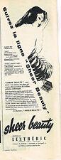 PUBLICITE ADVERTISING 015  1957  LENTHERIC  cosmétiques ligne SHEER BEAUTY