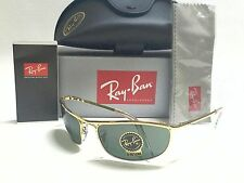 New Authentic Ray-Ban OLYMPIAN RB3119 001 Arista/Crystal Green 59mm Sunglasses