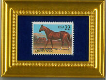 QUARTER HORSE  - A GLASS FRAMED COLLECTIBLE POSTAGE MASTERPIECE!