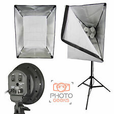 Studio Softbox Continuous 4 Bulb Light - Photography Photo Video Lamp Four Head