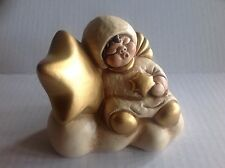 Thun Italian Pottery Angel Figurine with Stars Bolzano Italy