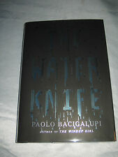 The Water Knife by Paolo Bacigalupi SIGNED 1st/1st 2015 HCDJ author Windup Girl