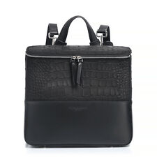 Brandon Blackwood New York Dual Texture Backpack Pack Black Leather Suede Croc