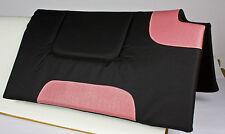 PINK BLACK WITHER CUT OUT NON SLIP WOOL FELT CANVAS WESTERN HORSE SADDLE PAD