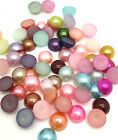Free Shipping 100pcs Half Pearl Bead FlatBack 8mm Scrapbook For making craft Mix
