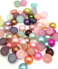 Free Shipping 200pcs Half Pearl Bead FlatBack 6mm Scrapbook making craft Mix#4