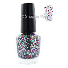 W7 Nail Polish/Varnish - 116 Multi Dazzle 15ml Rainbow Glitter Multi Colour