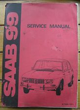 SAAB 99 MANUALE OFFICINA 1969 - 1971 ORIGINALE precoce