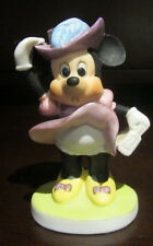RARE Disney Victorian Dress Minnie Mouse Ceramic Porcelain Figure Figurine