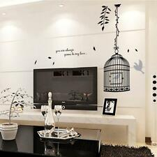 Modern Elegant Bird House Cage Mural Decal Wall Sticker Removable Wall Decal DIY