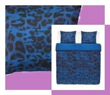 IKEA Giltig Leopard Purple Blue NEW Full/Queen Modern Duvet Cover Set Pillowcase