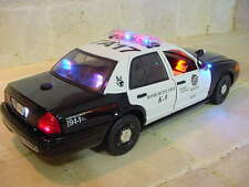 "1/18 Scale LAPD Los Angeles POLICE PI K-9  FORD Vic ""WORKING LIGHTS"" SIREN Ut"
