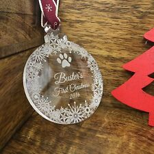 PERSONALISED  PET GIFT BAUBLE CHRISTMAS TREE DECORATION