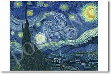 Starry Night by Artist Vincent Van Gogh - NEW Art Print POSTER