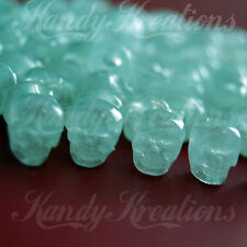 100 Glow in the Dark Skulls Pony Beads for Paracord Rave Kandi Halloween Crafts