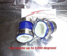 Yamaha Banshee rubber exhaust pipe clamps all years fmf,dg, Factory BLUE