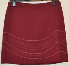 LADIES M&S ELASTICATED WAIST MINI SKIRT WITH STRETCH SIZE 10 L18 CLARET RED BNWT