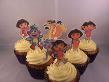 12 Dora the Explorer *WAFER* Edible Cupcake Cake Toppers *Standups*