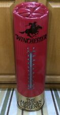 WINCHESTER GUN THERMOMETER Advertising Ammo Rifle Shotgun Shell Pistol Hunting