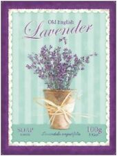 Lavender Soap Bathroom Kitchen Home Shabby Chic Flowers Small Metal/Tin Sign