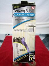 OVER THE DOOR WONDER HANGER AS SEEN ON TV PLATINUM EDITION CHROME BAR