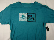 Rip Curl surf Mock Twist premium fit soft T-shirt men's blue size LARGE
