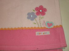 Carter's Child of Mine ADORABLE Pink Rick Rack FLOWERS SNAIL Heart BABY BLANKET